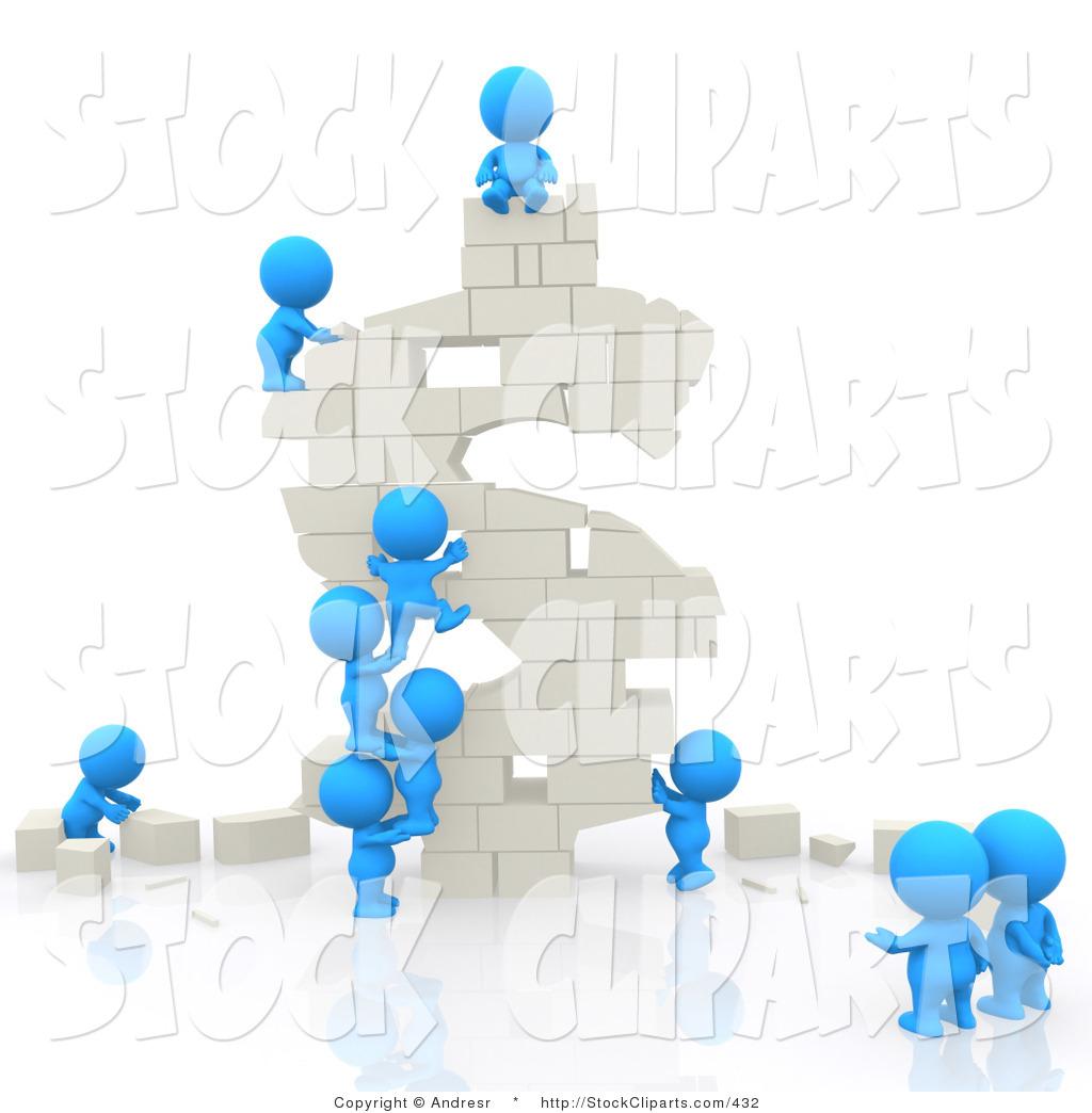 People In Buildings Clipart.