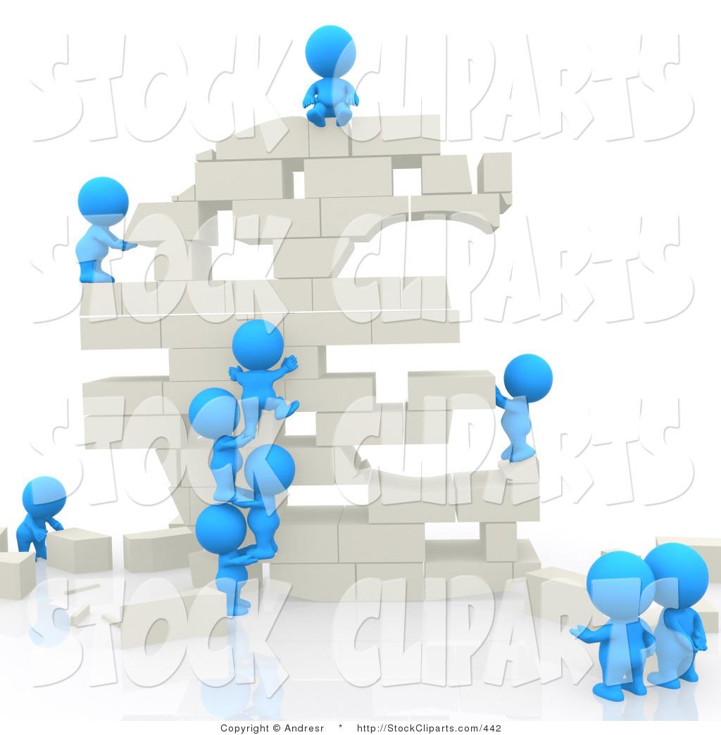 People In Buildings Clipart