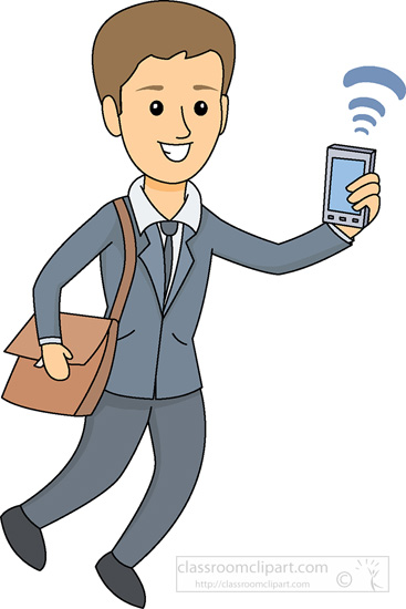 People Cell Phone Clipart.