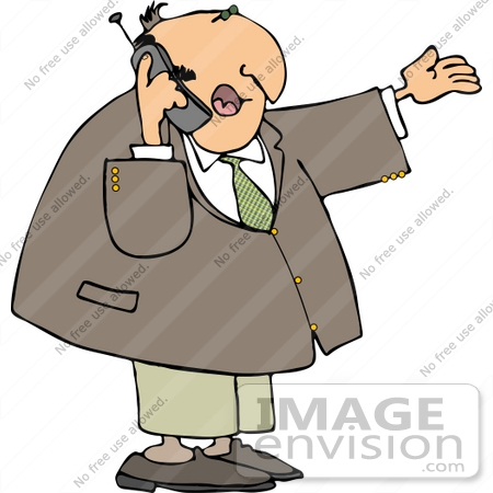 Talking On A Cell Phone Clipart.