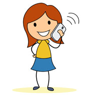 Person Talking On Cell Phone Clipart.