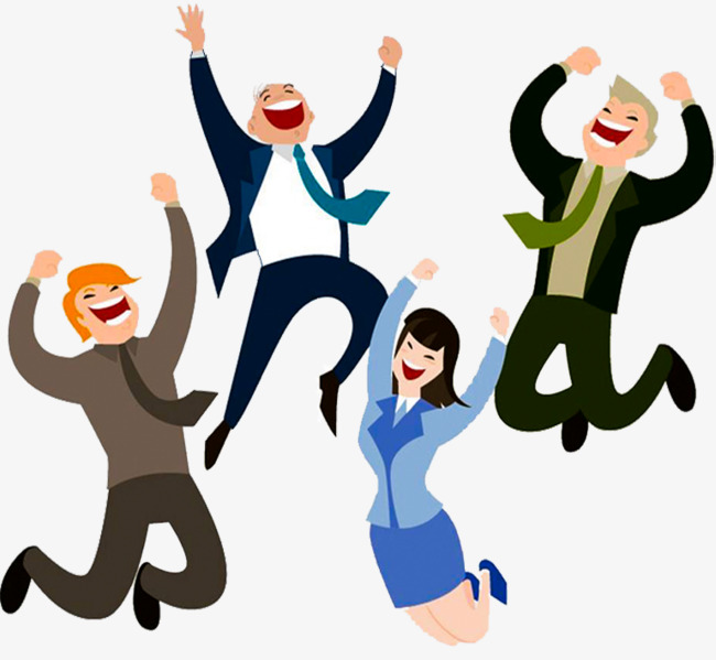 People Cheering Clipart.