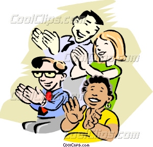 Audience Clapping Vector Clip art.