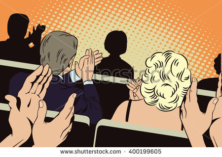 People Clapping Stock Photos, Royalty.