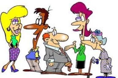 Cartoon clip art people.