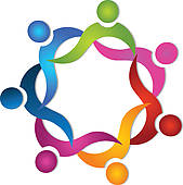 Clipart of People Group 7 meeting logo k21041500.