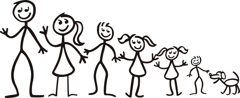 Family Stick Figure Clip Art.