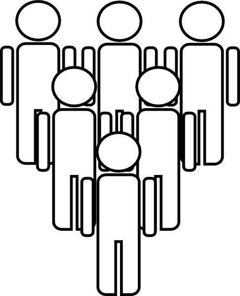 Clip art black and white people clipart.