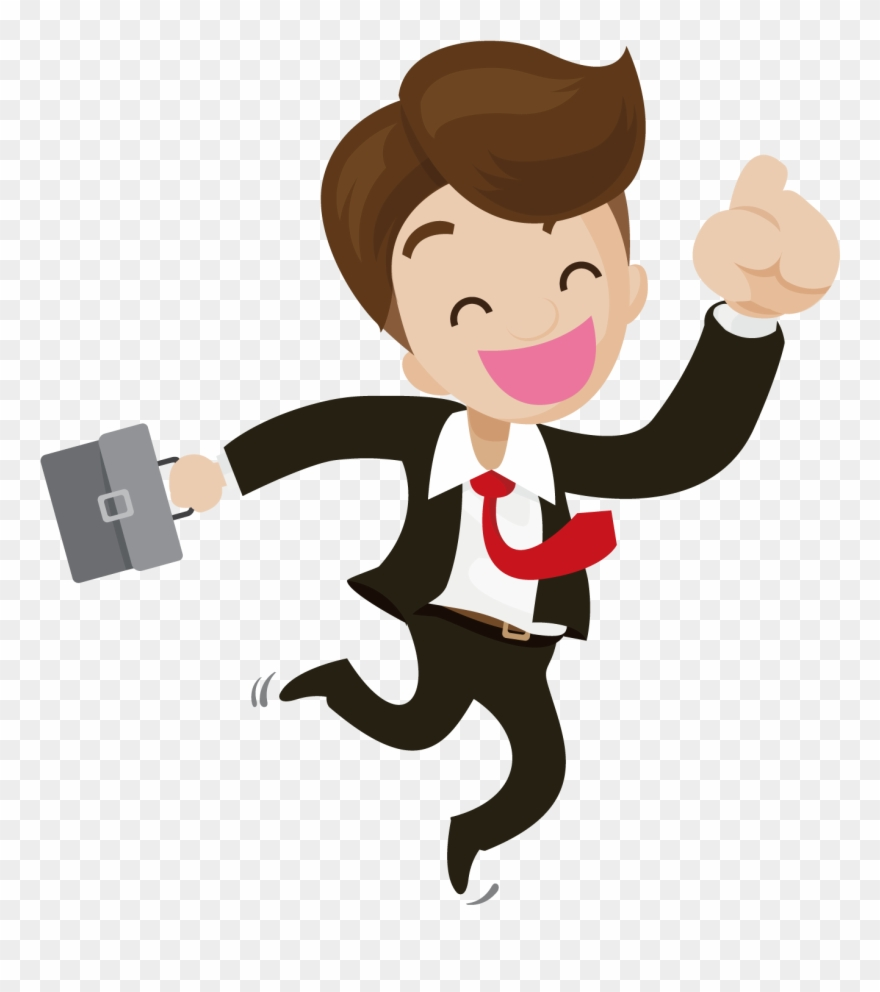 Businessperson Illustration Happy People Ⓒ.
