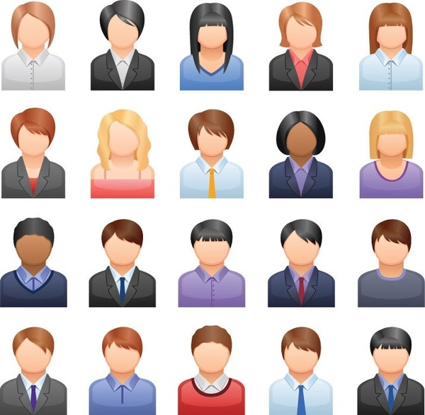Free Vector Business People Icons Free vector in.