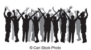 People Clipart Silhouette Group.