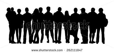 Audience Silhouette Stock Images, Royalty.