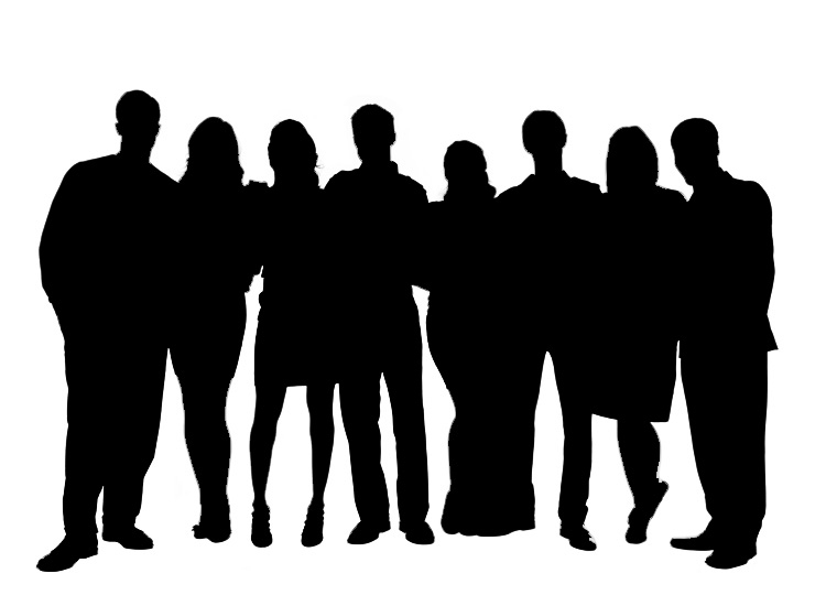 Group People Silhouette Clipart#2068670.