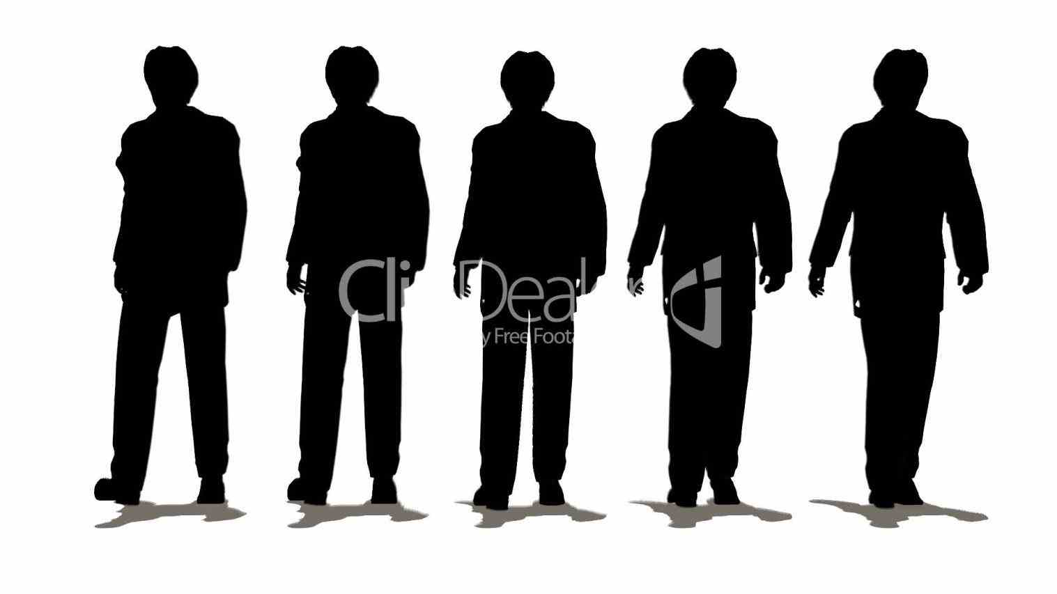 male model silhouette png.