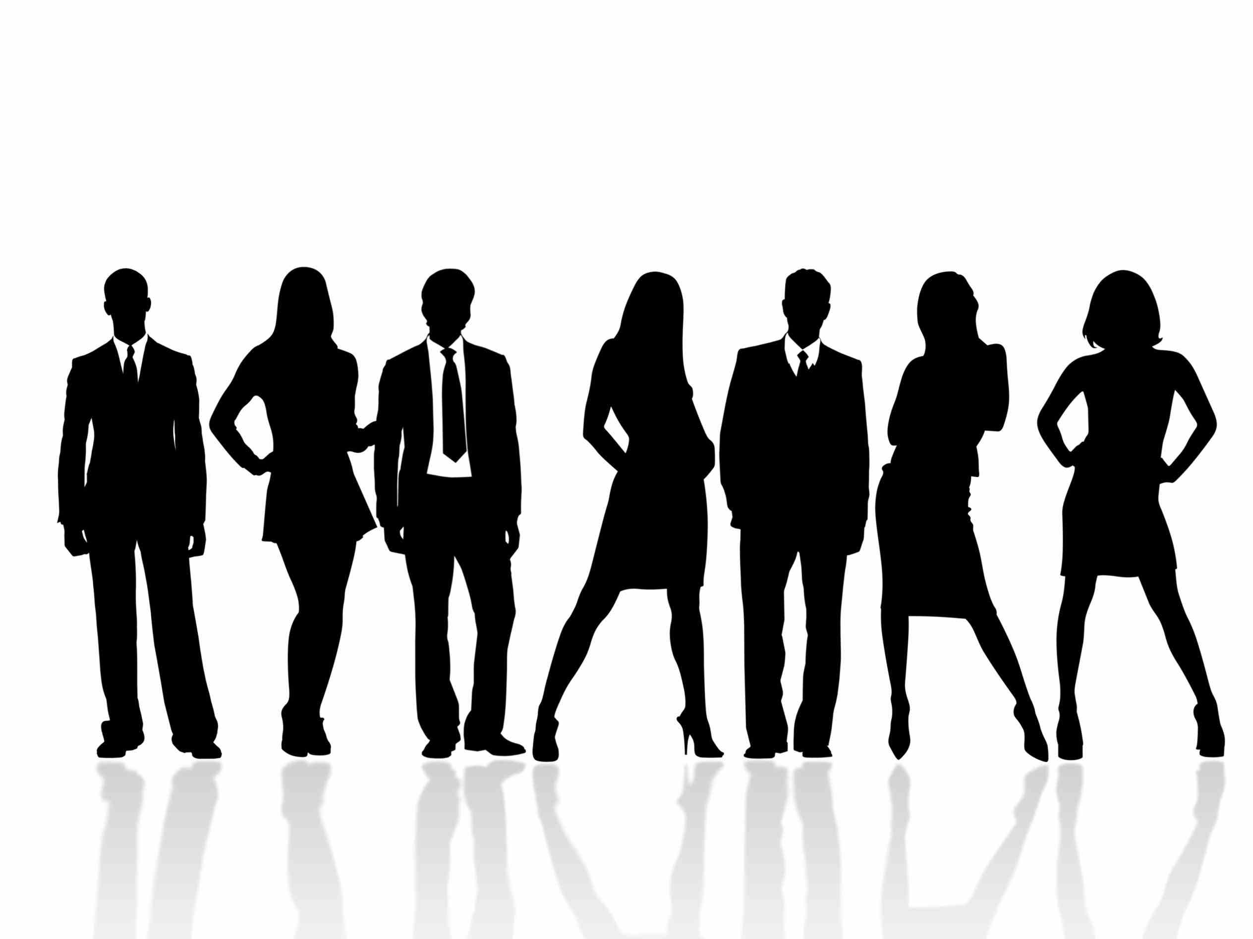 business people silhouette png.