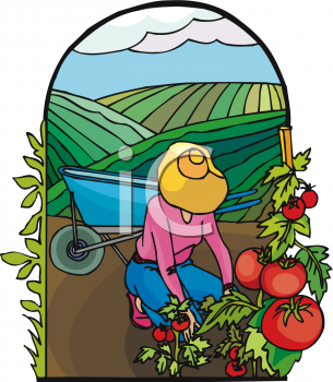 Clip Art Of Planting Crops Clipart.