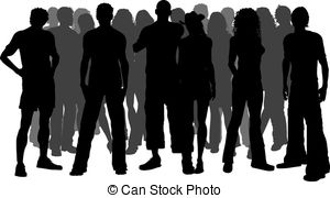 Vector background group people crowd abstract couple pair.