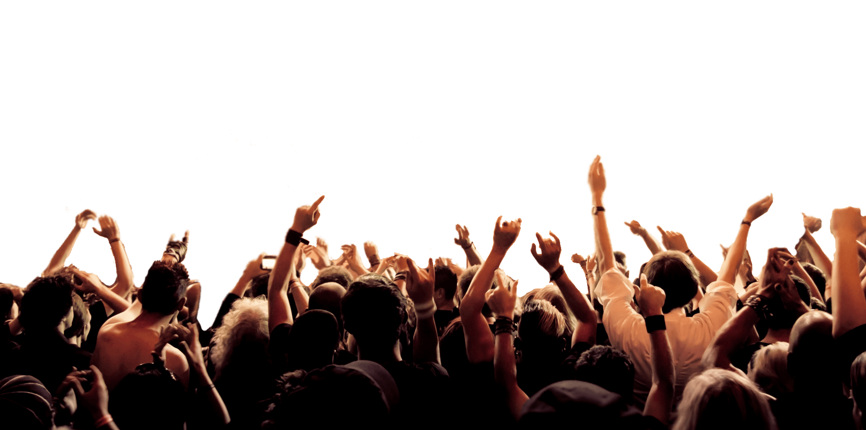 Cheering Crowd transparent PNG.