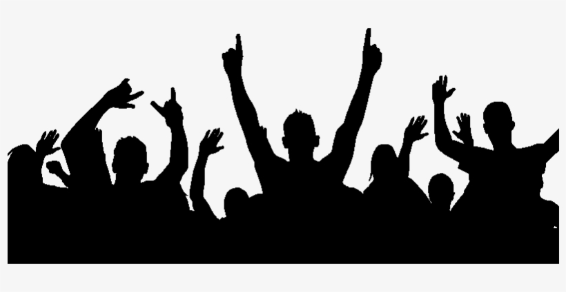 Party Crowd Silhouette Png Download.
