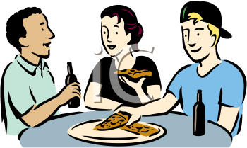 People Dining Clipart.