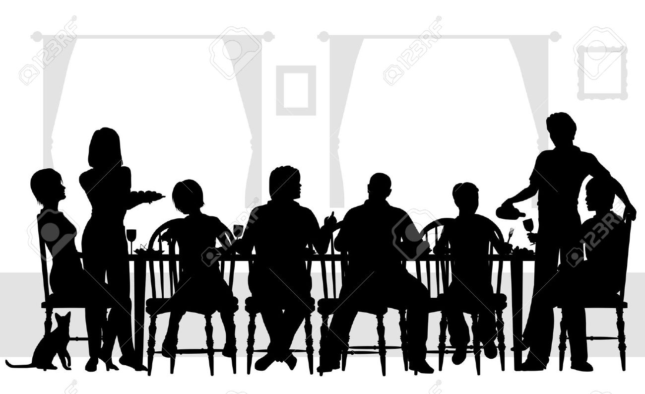 Family Dinner Courtesy The People Dining Free Clipart