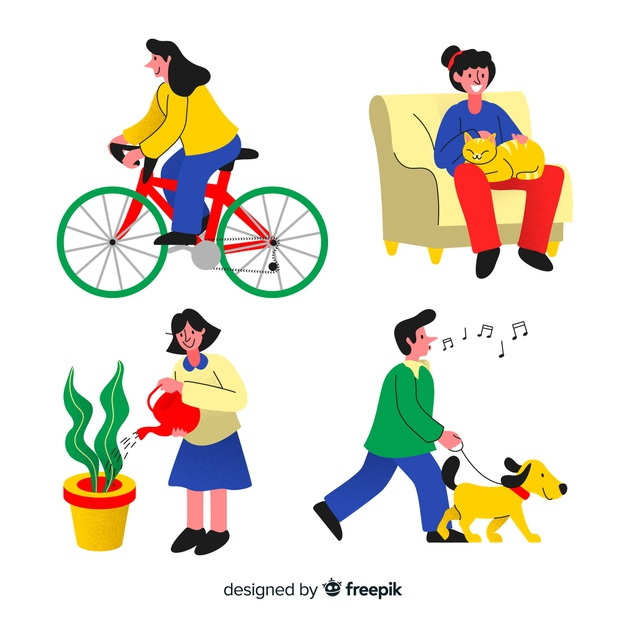 People doing things collection Vector.