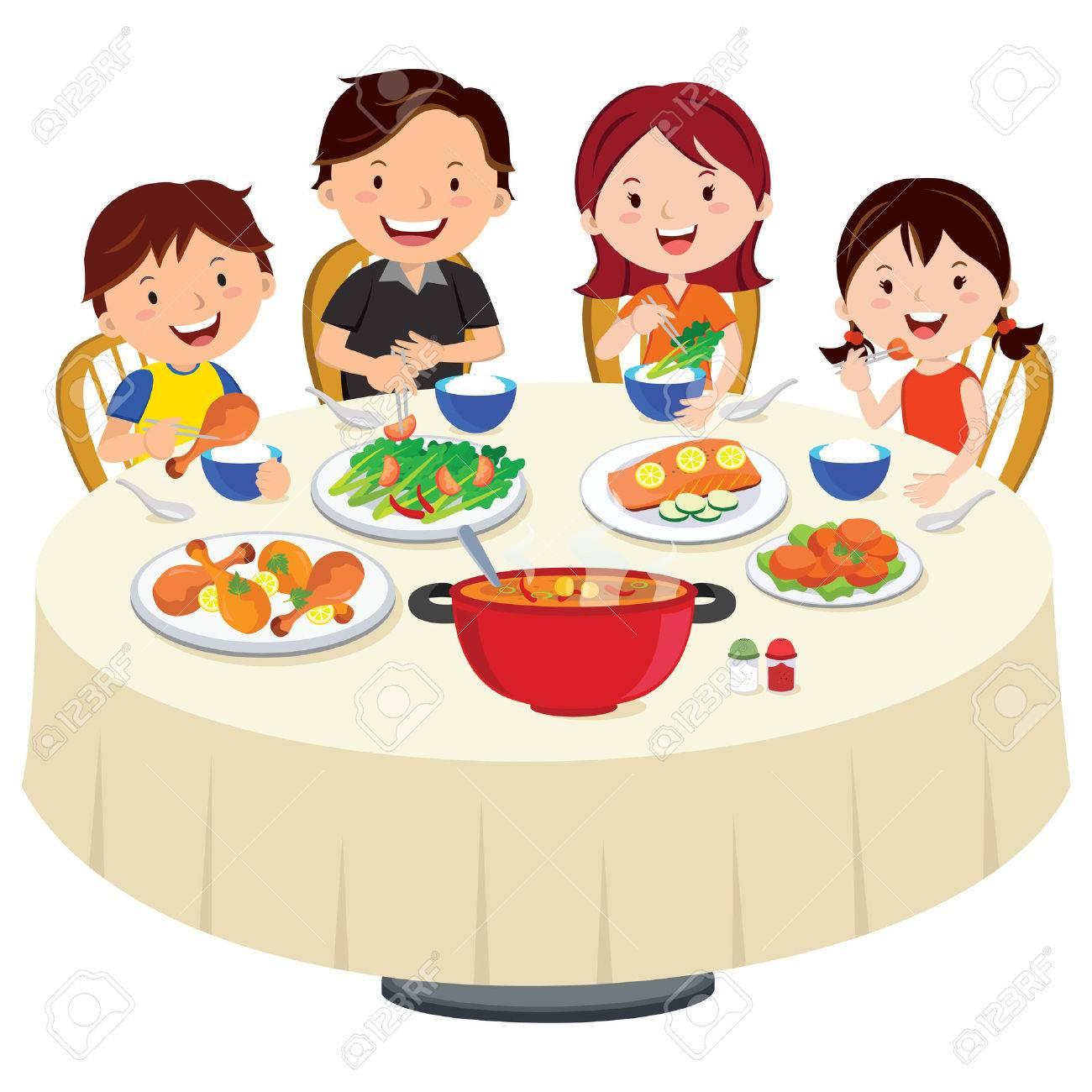 371 Eating Dinner free clipart.