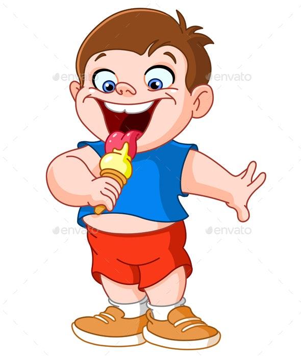 Kid Eating Icecream.