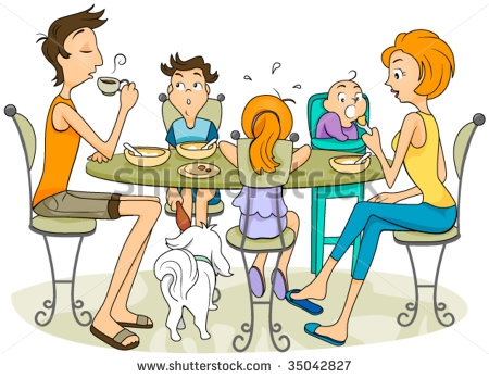Eating Dinner With Mom Clipart#1863161.
