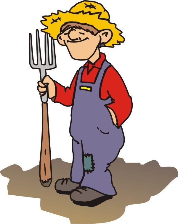 Farmer Cartoon Clip Art.