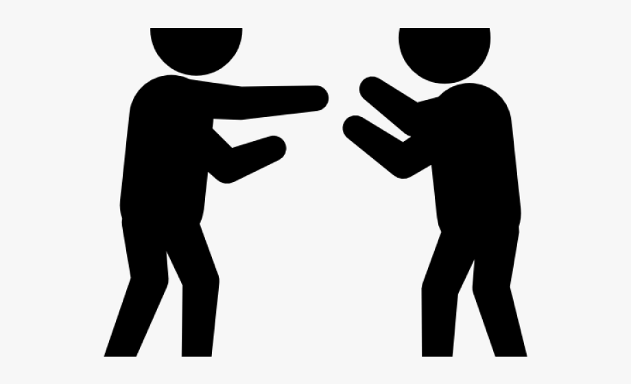 Two People Fighting.