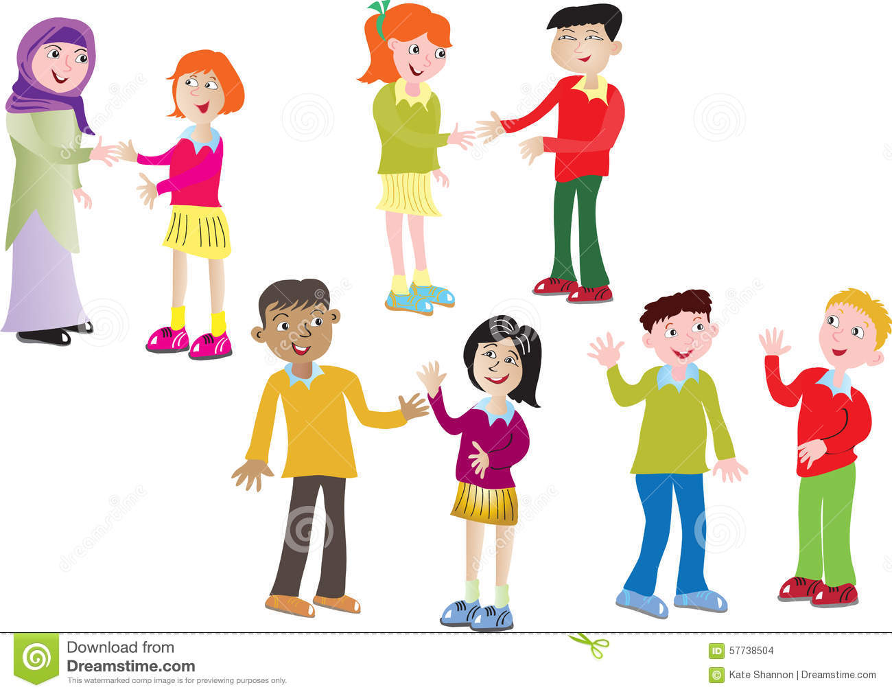people greeting clipart #5