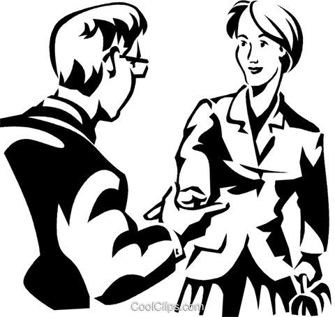 Two People Greeting Royalty Free Vector #430073.