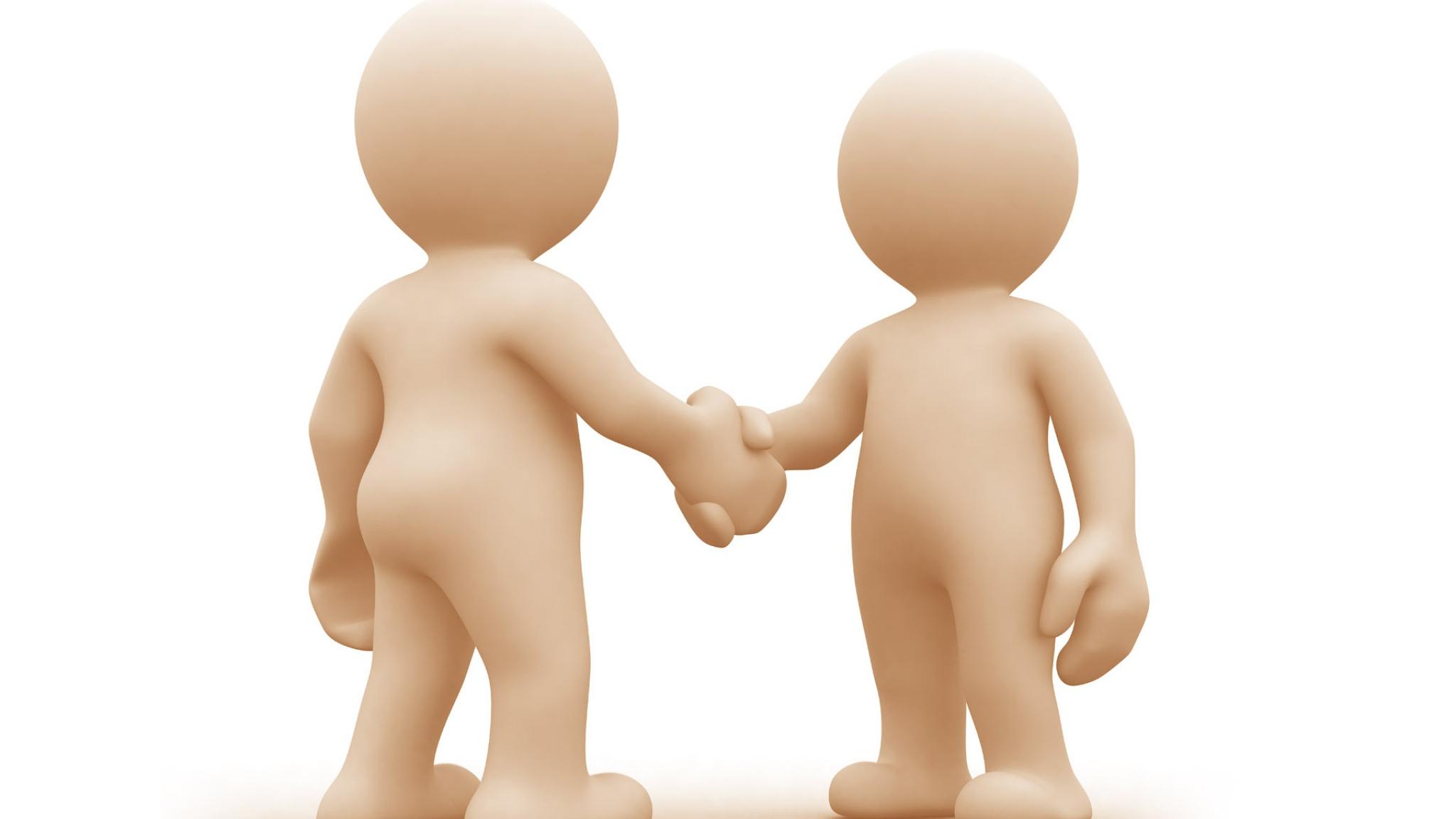 Hand Shake Clipart Free Clip art of Handshake Clipart #5664.