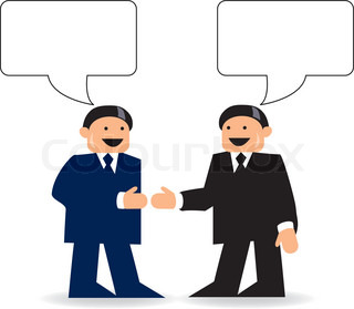 Conversation Between Two People Clipart.