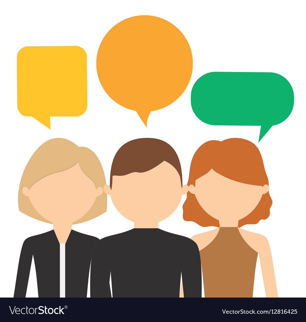 People having conversation icon image.