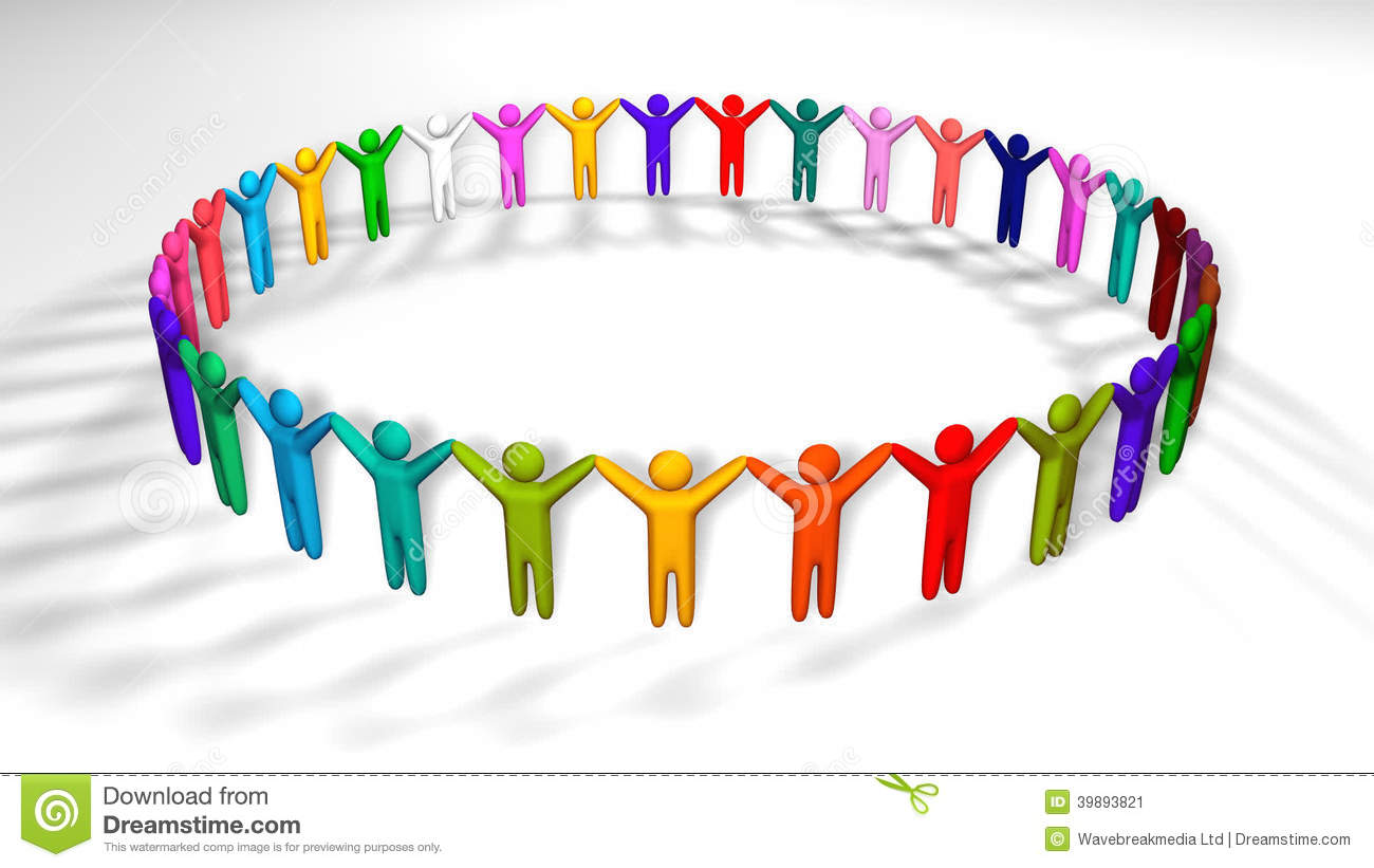 People Holding Hands In A Circle Stock Video.