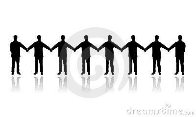 Human People Chain Vector Stock Image.