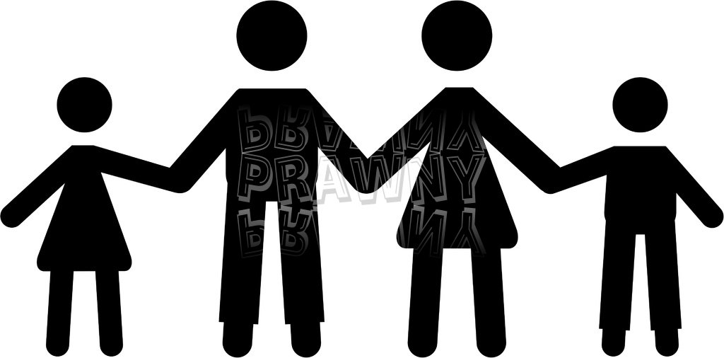Silhouette Icon Family Holding Hands Prawny People Clip Art.