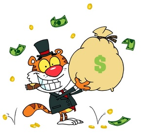 Wealthy Clipart Image.