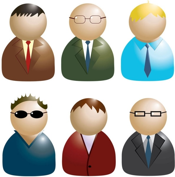 Business people icon 02 vector Free vector in Encapsulated.