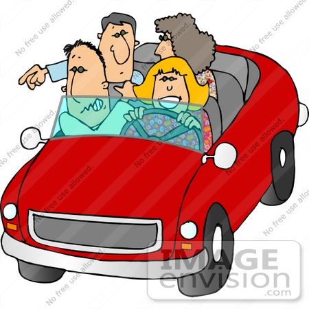 Two People In A Car Clipart.