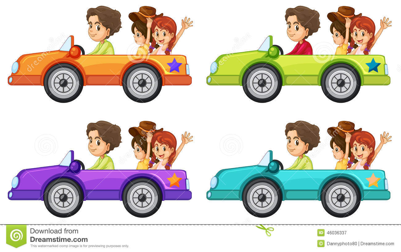 People In A Car Clipart.