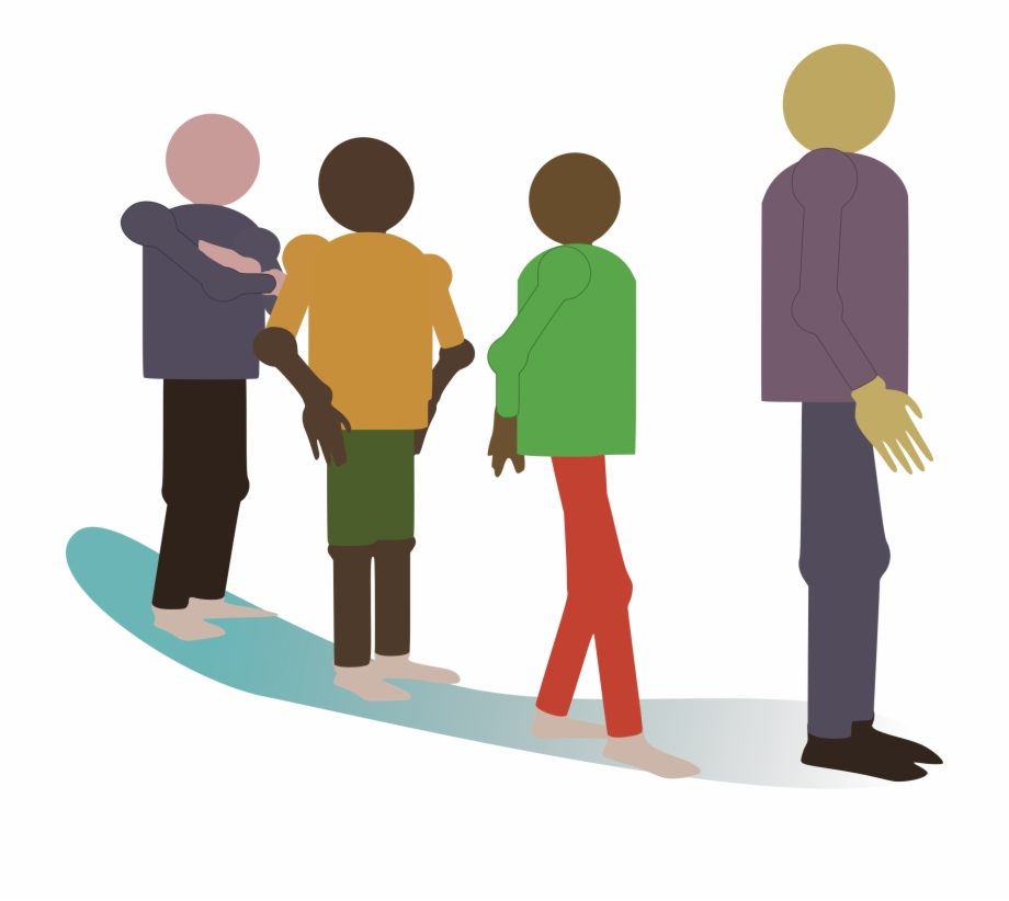 People Standing In Line Clipart.