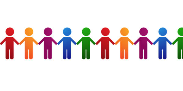 People Chain Clipart.