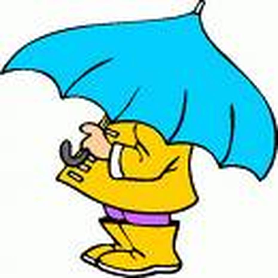 people in rain clipart #9