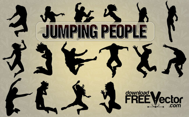 jumping people.
