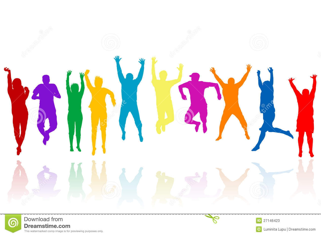 People Jumping Clipart#1929399.