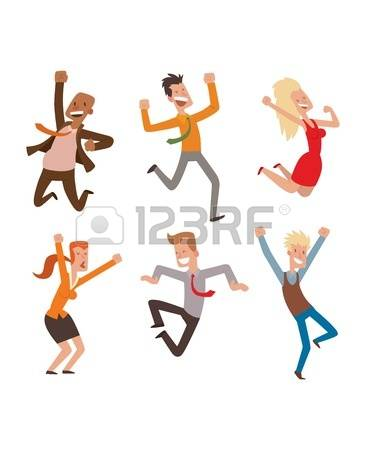 86,606 People Jumping Stock Vector Illustration And Royalty Free.