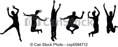 Vector Illustration of people jumping.